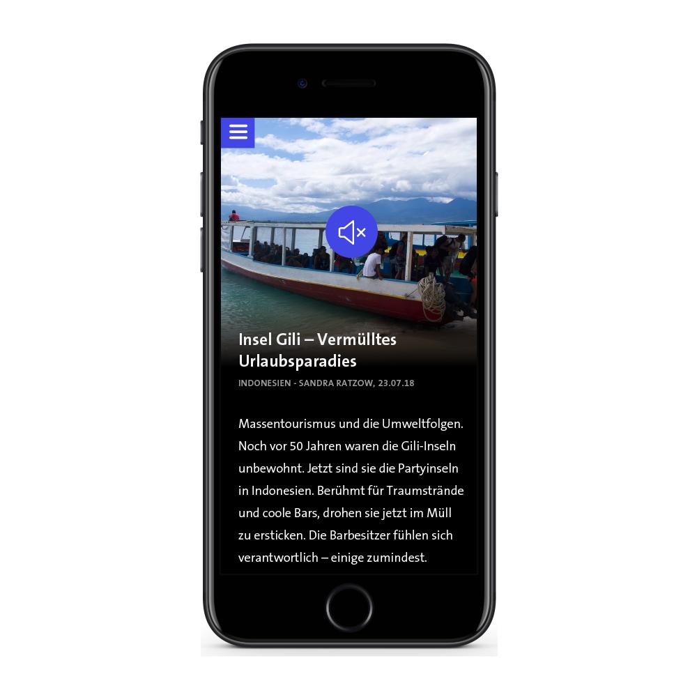 Smartphone mit WDR Plus App